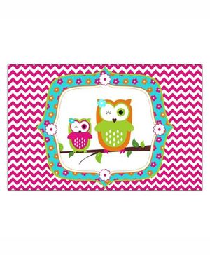 Prettyurparty Girly Owl Table Mats- Pink