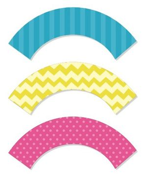 Prettyurparty Spa Cupcake Wrappers- Multi color