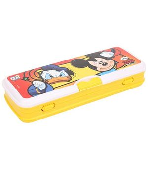 Disney Mickey Mouse And Friends Pencil Box - Yellow
