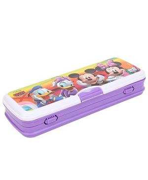 Disney Mickey Mouse And Friends Pencil Box - Purple and White