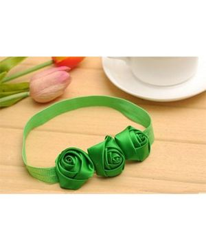 Akinos Kids Flower Headband - Green