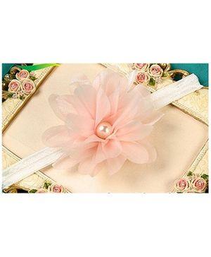 Akinos Kids Satin Ribbon Pearl Headband - Light Pink
