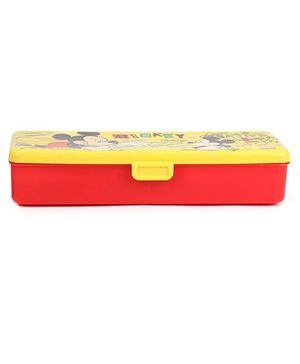 Disney Mickey Mouse And Friends Pencil Box - Yellow And Red
