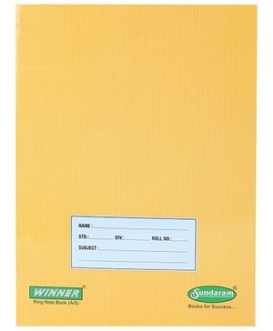 Sundaram Winner A5 Notebook Yellow - Square Line
