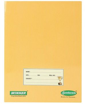 Sundaram Winner A5 Sketchbook Yellow - Single Line