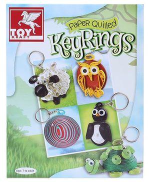Toy Kraft Paper Quilled Key Rings Kit