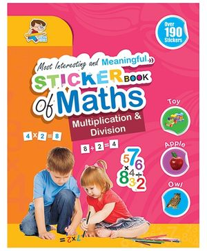 Sticker Book of Maths Multiplication & Division - English