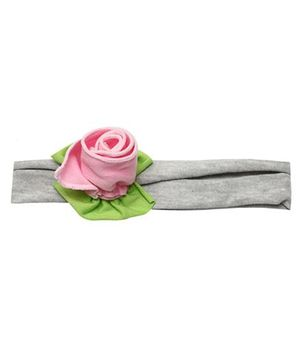 D'chica Rose Headband - Pink & Grey