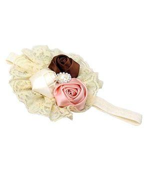 D'chica Rosettes Headband - Cream