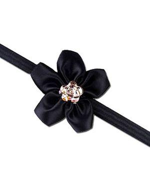 D'chica Ribbon Flower Headband - Black