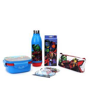 Avengers Print School Kit Pack of 5 Blue - 500 ml