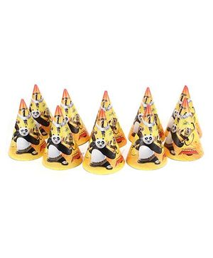 Kung Fu Panda Party Hats - Pack Of 10