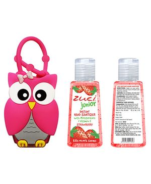 Zuci Junior Hand Sanitizer And Owl Bag Tag 30 ml (Flavors May Vary)