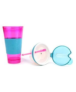 Best Lock Snack And Drink 2 in 1 Cup - Pink And Blue