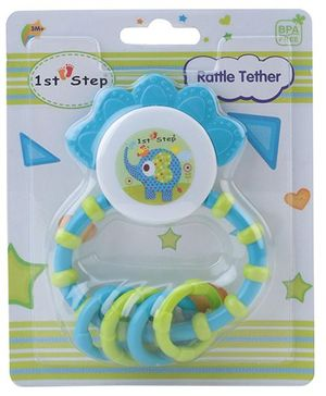 1st Step Rattle Teether - Green and Blue