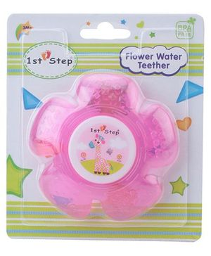 1st Step Water Filled Teether Flower Shaped - Pink