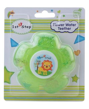 1st Step Water Filled Teether Flower Shaped - Green