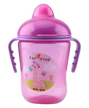 1st Step Two Handle Non Spill Sipper Cup Pink - 250 ml