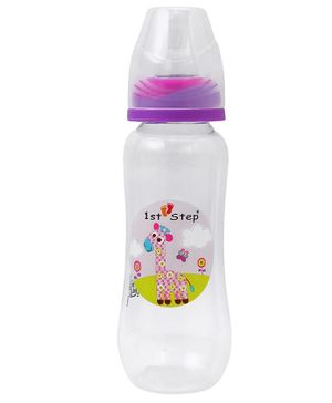 1st Step Feeding Bottle White and Purple - 250 ml