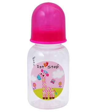 1st Step Feeding Bottle - White and Pink
