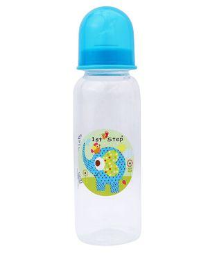 1st Step Feeding Bottle White and Blue - 250 ml