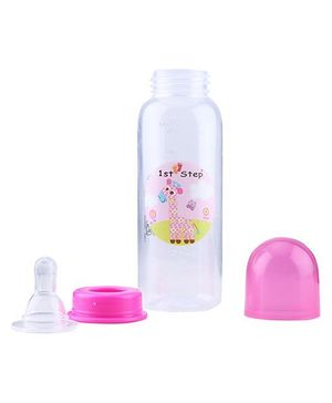 1st Step Feeding Bottle White and Pink - 230 ml