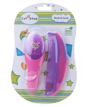 1st Step Brush And Comb Set - Pink and Purple