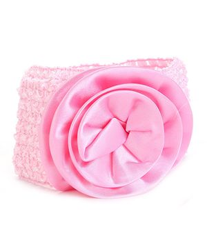 Stol'n Lace Headband With Flower - Dark Pink