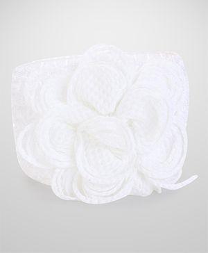 Stol'n Woolen Headband With Flower - White