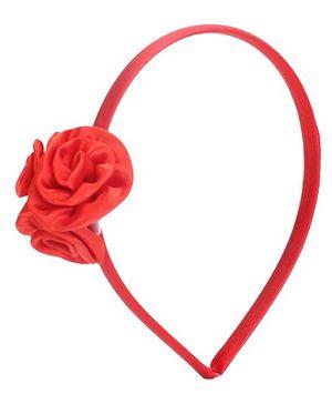 Stol'n Three Rose Motif Hairband -  Red