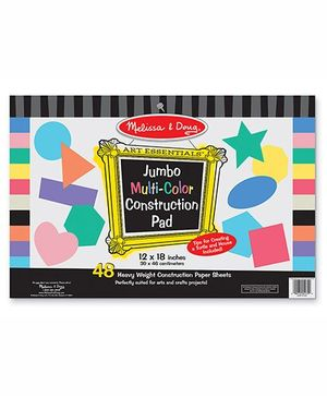 Melissa & Doug Jumbo Multi Color Construction Pad