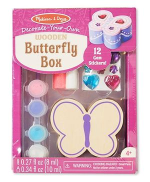 Melissa & Doug Wooden Butterfly Chest Decorating Set