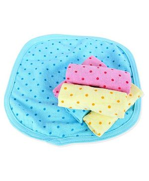 Babyhug Dotted Handkerchiefs Set of 6 - Multicolour