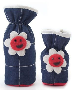 1st Step Denim Bottle Cover Pack of 2 - Blue and White