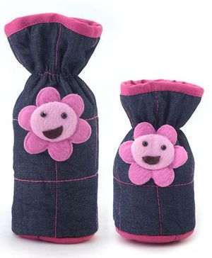 1st Step Denim Bottle Cover Pack of 2 - Blue and Violet