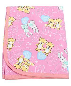 1st Step Diaper Changing Mat Printed - Pink