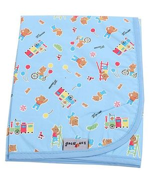 1st Step Diaper Changing Mat Printed - Blue