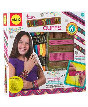 Alex Toys Faux Leather Cuffs - Multicolor