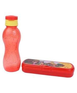 Chhota Bheem Sipper Bottle and Pencil Box Set - Red