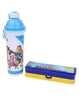 Chhota Bheem Sipper Bottle and Pencil Box Set - Blue