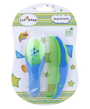 1st Step Brush And Comb Set - Blue and Green