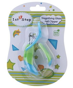 1st Step Nail Clipper with Magnifier - Blue and Green