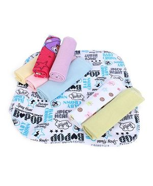 Babyhug Wash Cloth Napkins - Pack Of 8