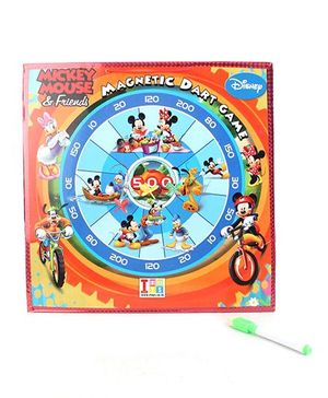 Disney Mickey and Friends 2-in-1 White and Dart Board - Multi Color