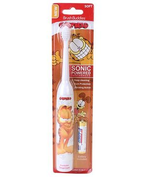 Brush Buddies Soft Sonic Powered Toothbrush Garfield - White And Brown