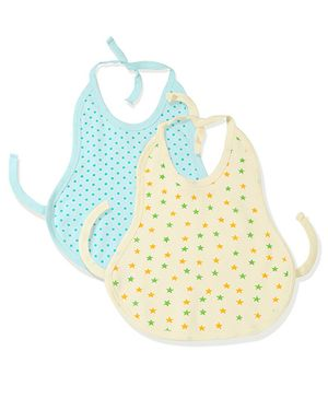 Babyhug Bibs Set of 2 - Yellow Sea Green