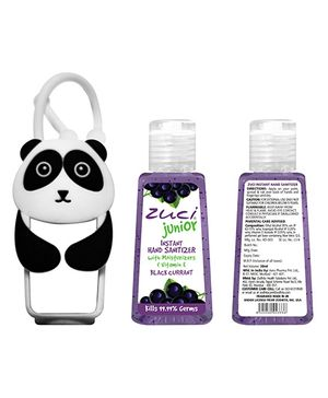 Zuci Junior Black Current Sanitizer With Panda Bag Tag