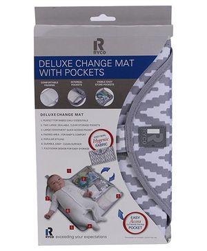 Ryco Chevron Deluxe Diaper Changing Mat - Grey White