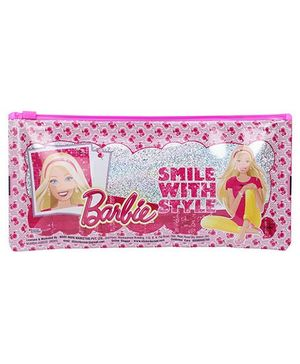 Barbie Smile With Style Sparkle Pencil Pouch - Dark Pink