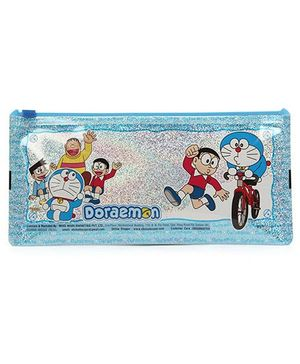Doraemon Sparkle Pencil Pouch - Blue